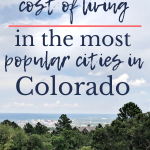 What is the average cost of the popular cities in Colorado?