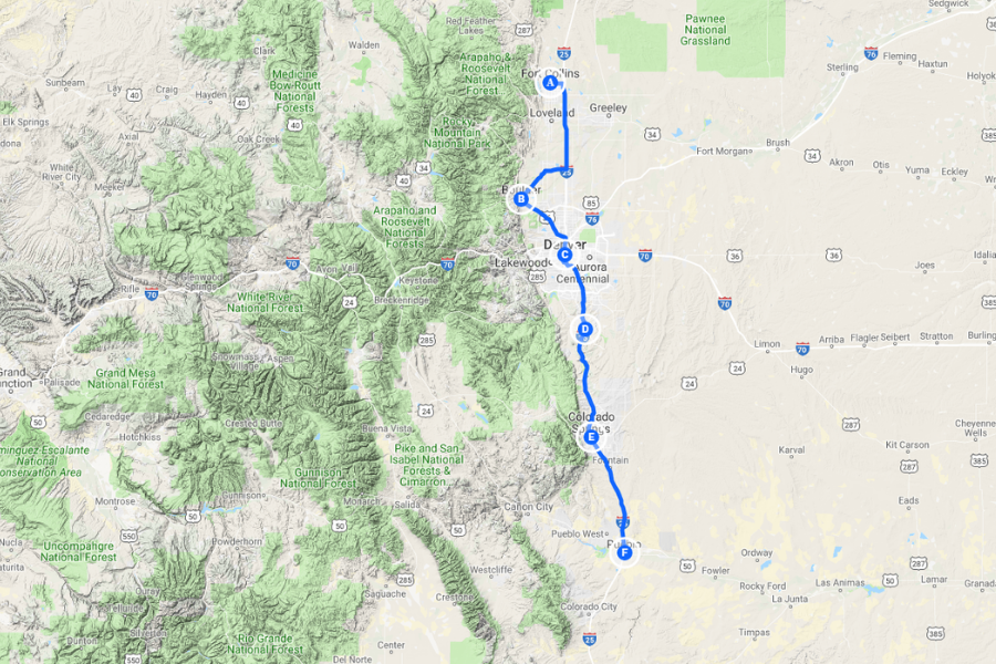 Front Range Colorado Map Front Range Colorado: 6 Best Places to Live with Mountain Views