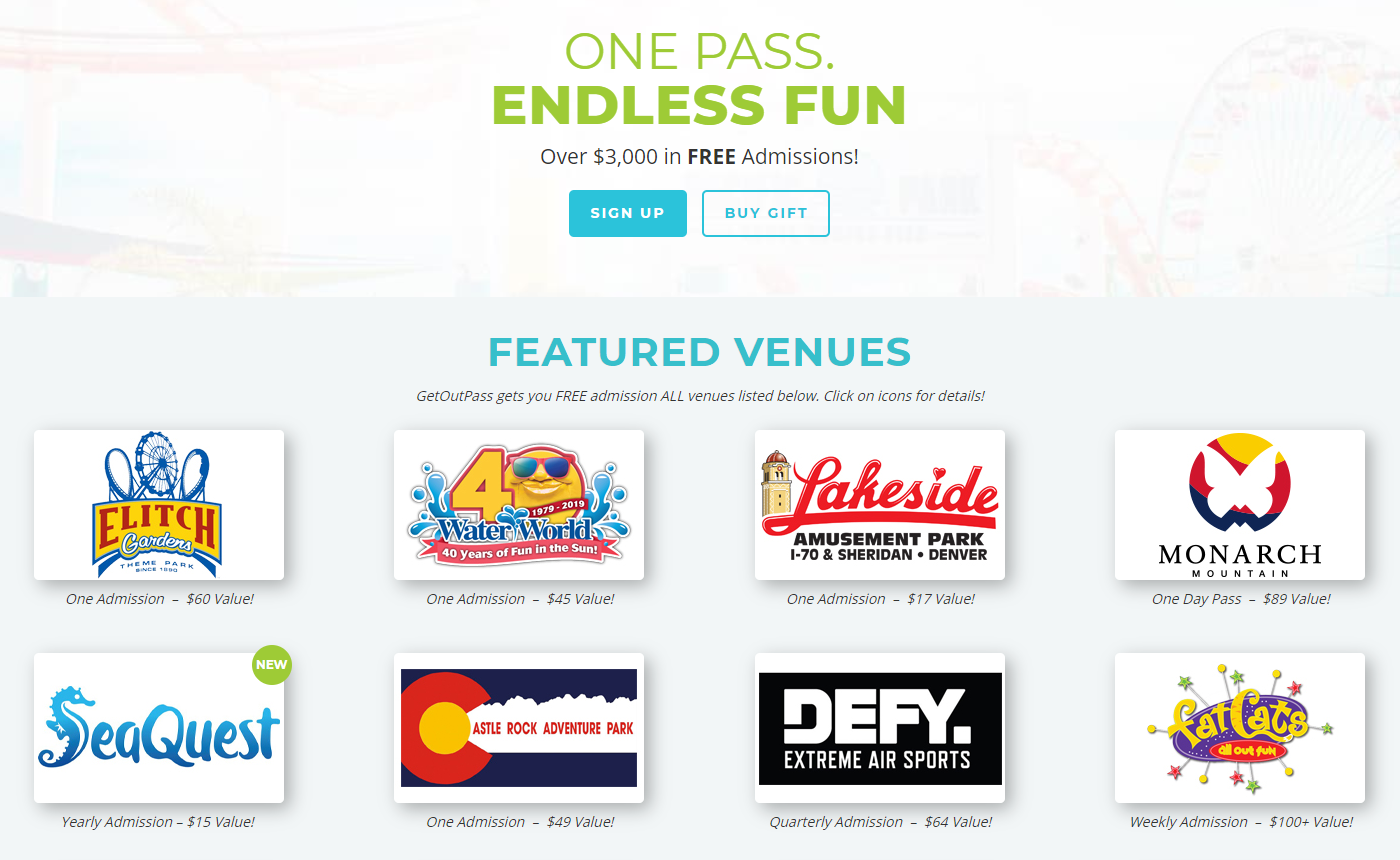 GetOutPass Colorado: $40 Discount Code on Tons of Attractions