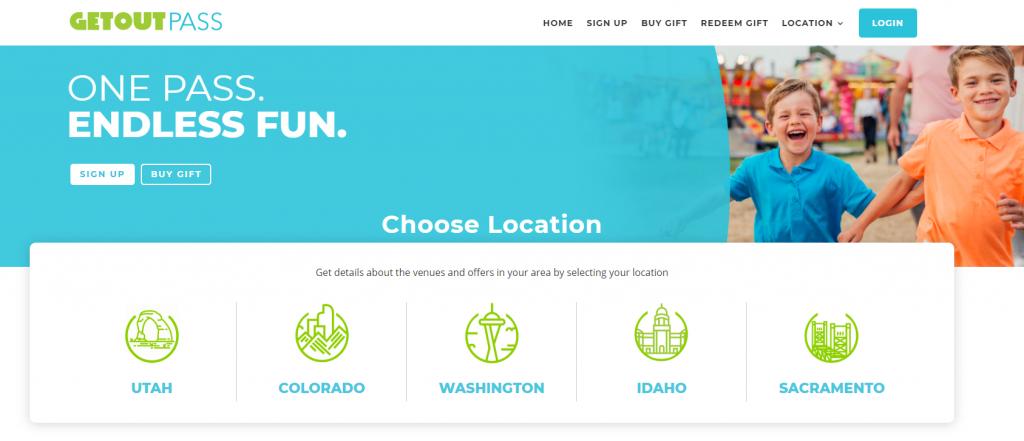 GetOutPass Review - Homepage