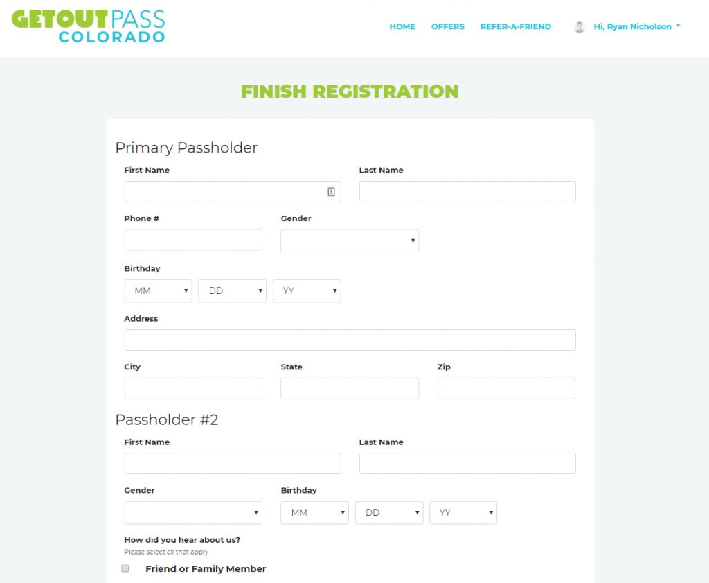 GetOutPass Review - Registration Form