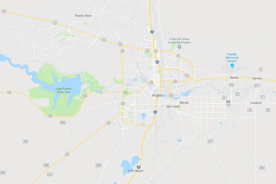 Pueblo Colorado Map