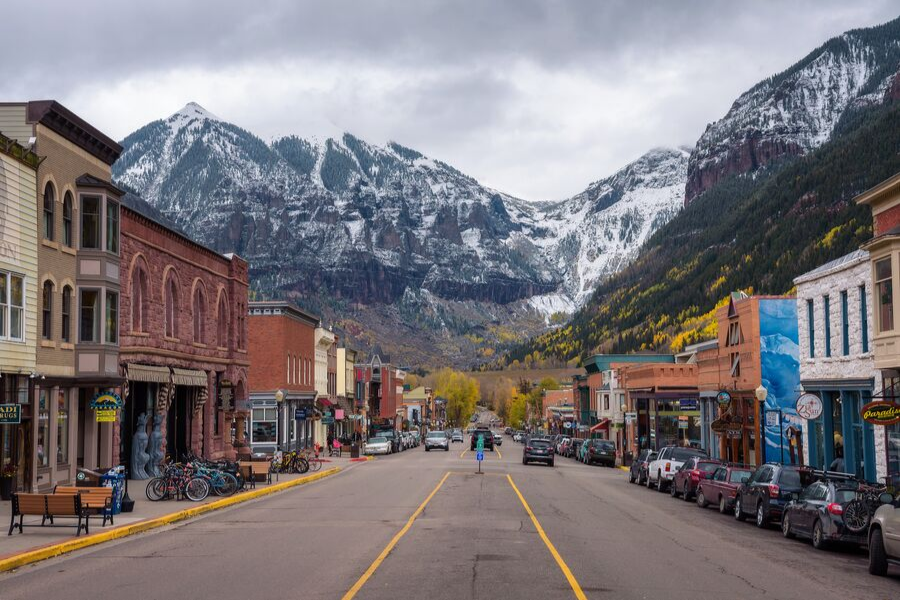 telluride colorado in fall