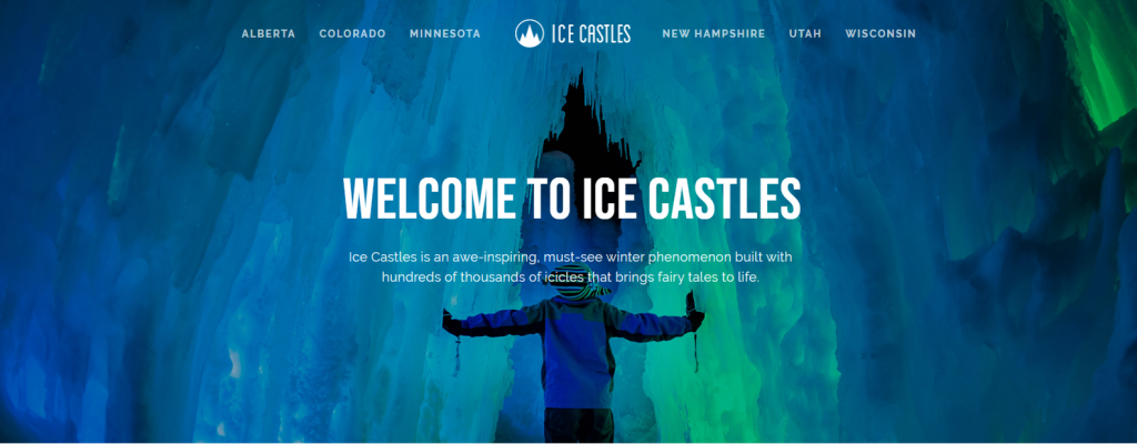 Ice castles - website
