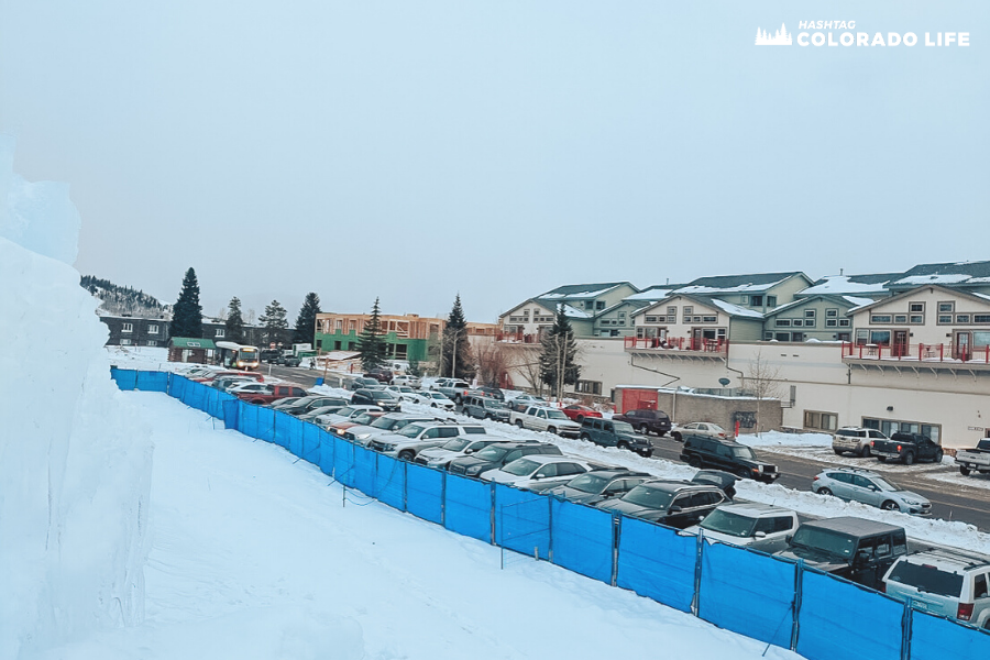 Where to park at the Ice Castles