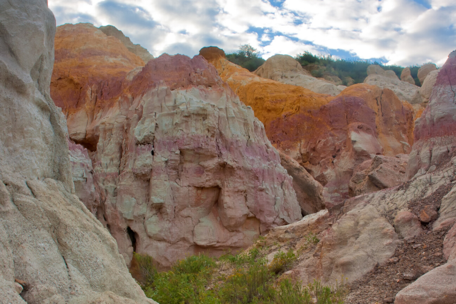 colorful hoodoos at paint mines park