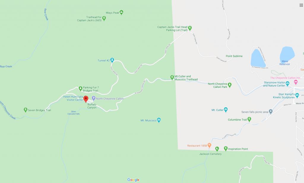 helen hunt falls trail map