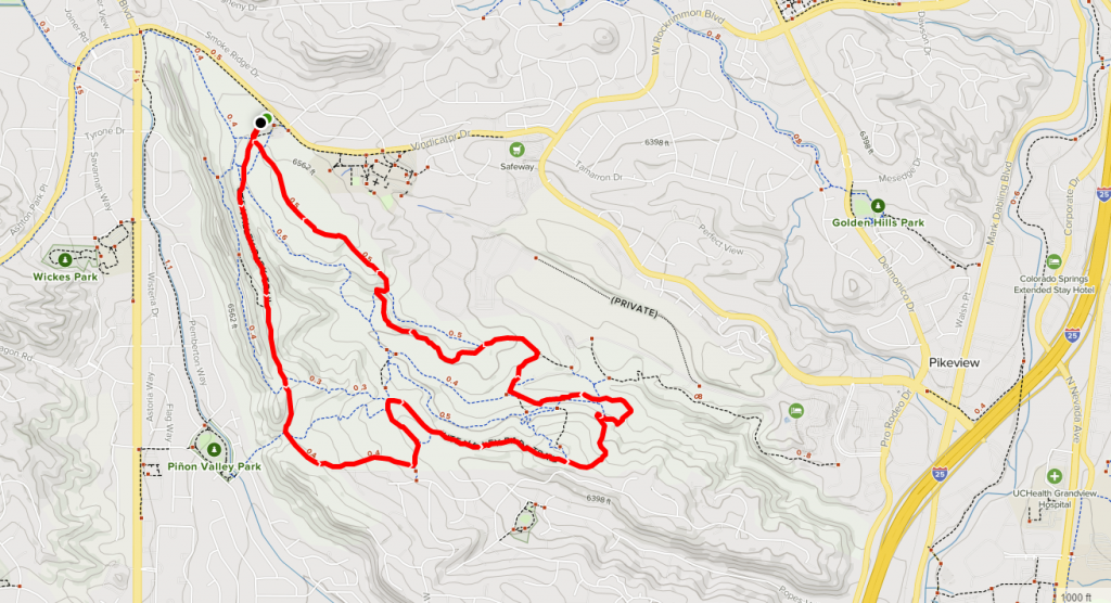ute valley park trail map