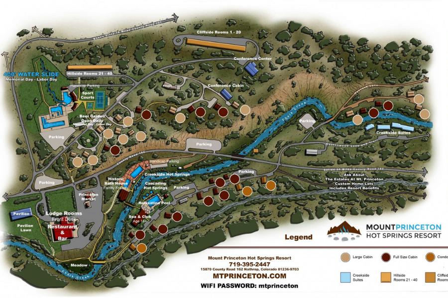 mt princeton hot springs colorado map