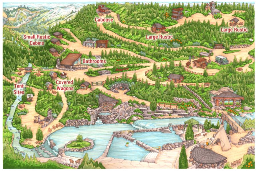 strawberry hot springs colorado map