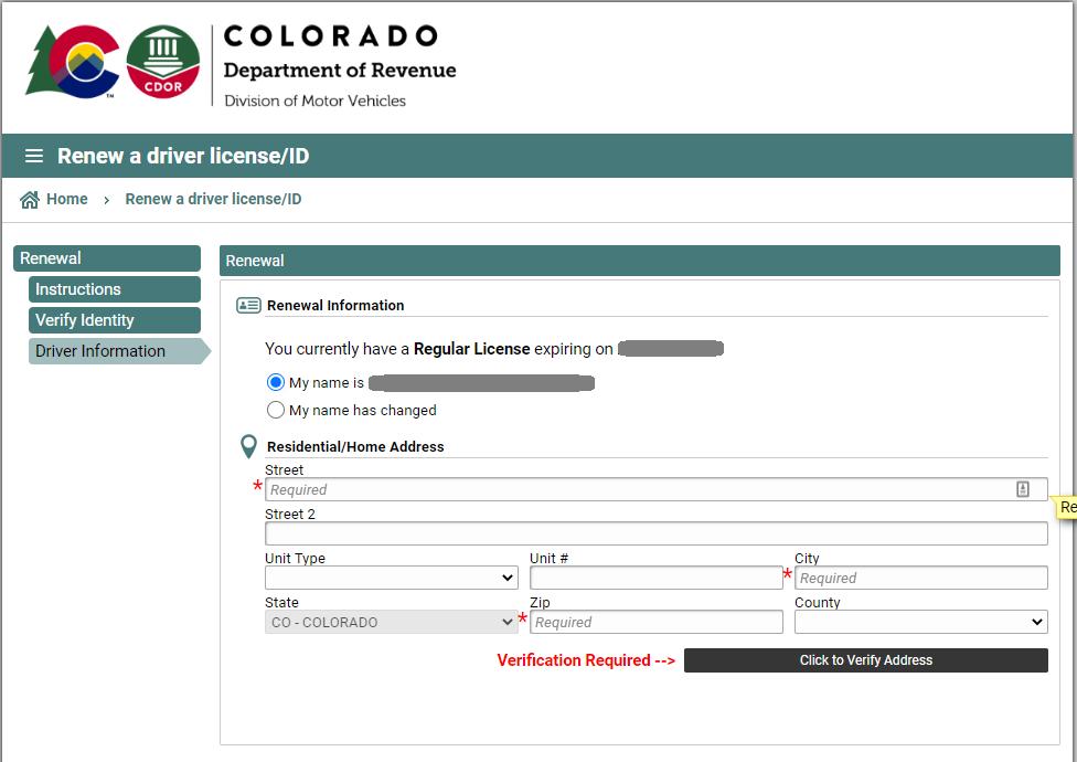 colorado dmv - driver information