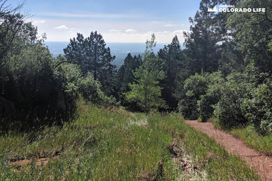 views at blodgett peak trails
