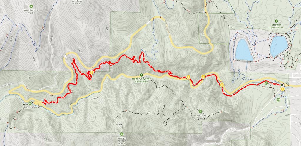 columbine trail map