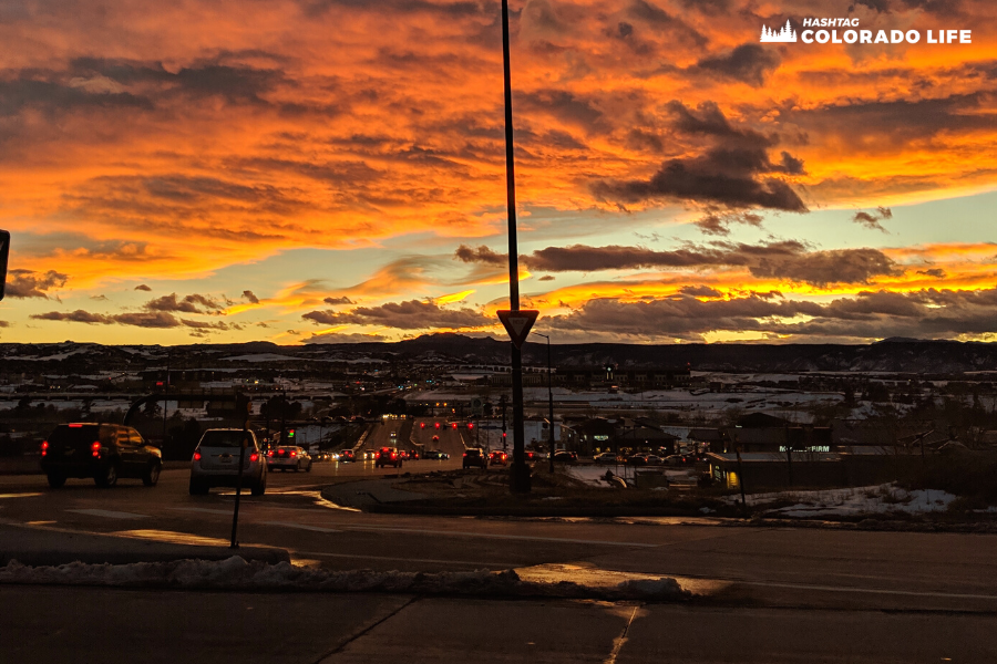 denver international airport sunset