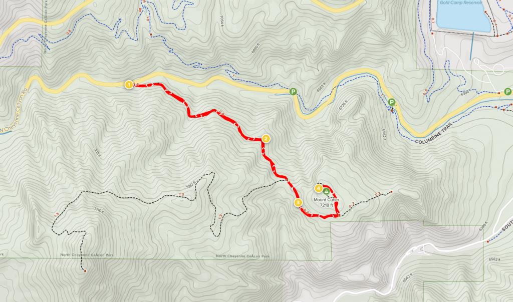 mount cutler trail map