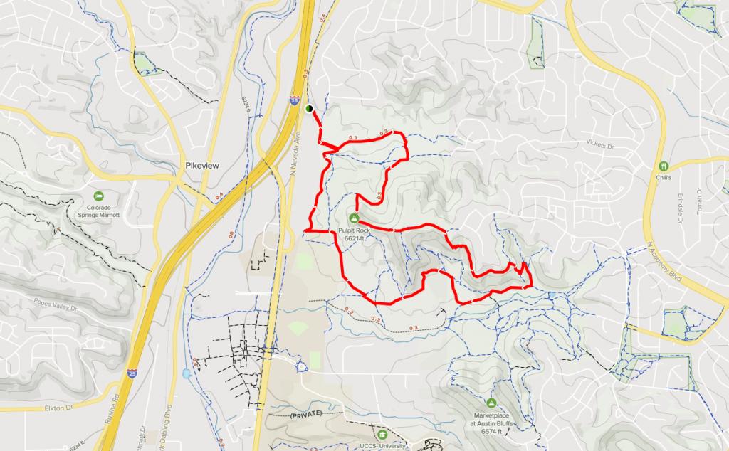 pulpit rock trail map