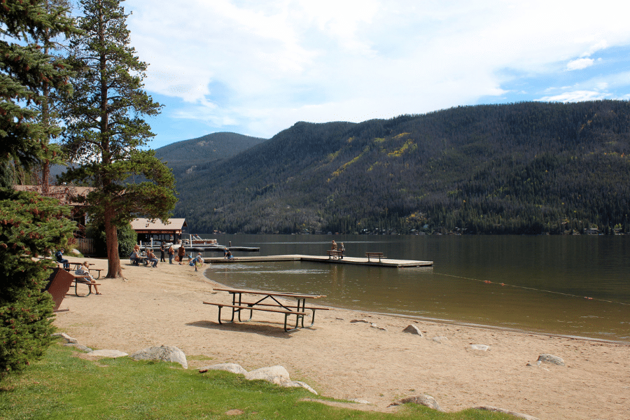 grand lake beach and swim area