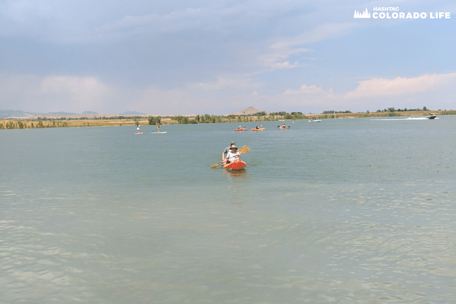 kayaking at boulder reservoir