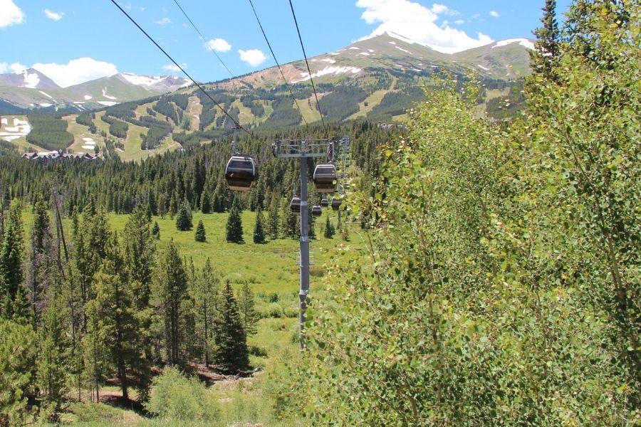 breckenridge gondola in the summer